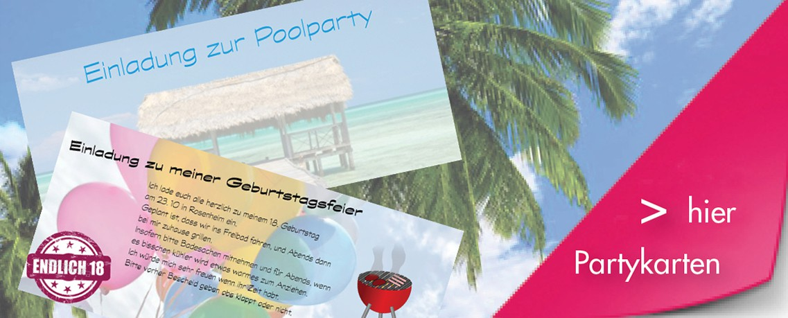 Einladungskarten Jubiläum Party